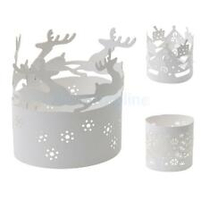 10 White Christmas Candle Decoration Paper Dinner Party Tea Light Holder Holiday