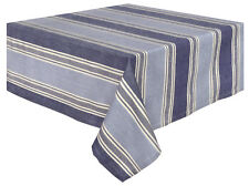 Traders and Company Cold Brook 100% Cotton Striped Tablecloth