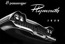 1959 Plymouth 8 Passenger - Promotional Advertising Poster