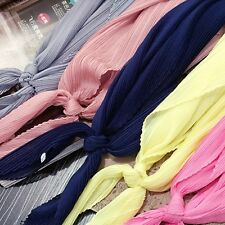Women Square Scarf Ruffled Neckerchief Chic Neck Wrap Dress Scarves Candy Color