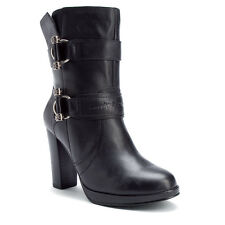 NWT Harley-Davidson Women's Marissa Leather Motorcycle Boots Shoes Black Sz 9,10