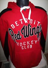 "DETROIT RED WINGS ""Hockey Club"" ThrowBack Style Hoody Sewn & Screened Logos XL"