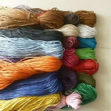 19 Colours 10m Waxed Cotton Cord Thong String Necklaces Jewellery Making DIY 2mm