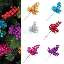 Shiny Pine Baubles Fruit Hanging Christmas Tree Ornaments Party Decor 6 Colors