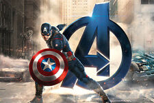 iCanvas Marvel Comics Captain America, The Avenger, Movie Graphic Art on Canvas