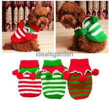 Pet Cat Dog Christmas Clothes Knitted Sweater Coat Hoodie Party Costume Apparel