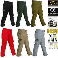 Women Motorbike Cargo Trousers pants Reinforced with DuPont™ Kevlar® fiber