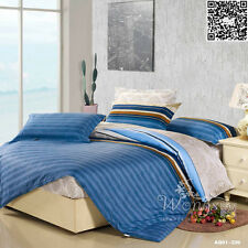 Cotton Striped Duvet Doona Quilt Cover Set Double Queen King Size Bed Covers New