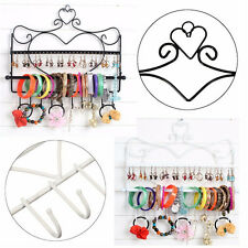 Wall Jewelry Organizer Mount Heart Hanging Earring Holder Necklace Display Rack