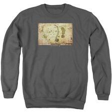 The Hobbit Middle Earth Map Mens Crewneck Sweatshirt