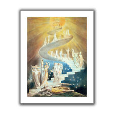 ArtWall Jacobs Ladder' by William Blake Painting Print on Rolled Canvas
