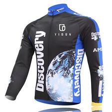 Men's Thermal Winter Cycling Jersey Long Sleeve Fleece Cycling Jacket Discovery