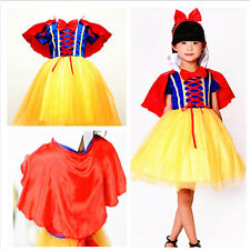 Cosplay Snow White Princess Fancy Dress Children Halloween Party Girls Costume
