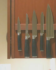Handmade Magnetic Knife Rack, Hardwood, 10'' - Cabinet Mounted