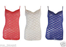EX MARKS AND SPENCER FLORAL LACE STRAPPY CAMISOLE VEST TOP SIZE 6-20