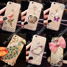 Hard Clear Case Bling Crystal Diamond Rhinestone Cover For iPhone/Samsung/LG