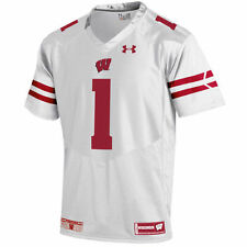 Youth Under Armour #1 White Wisconsin Badgers Replica Football Jersey - College