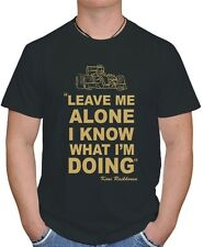 "KIMI RAIKKONEN ,,LEAVE ME ALONE I KNOW WHAT I'M DOING"" LOTUS F1 T SHIRT Y S-3XL"