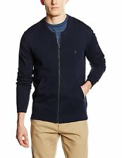 French Connection New Mens  Zip Up Cardigan Cotton Style Knit Cardi Top Marine
