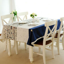 New Cotton Linen Tablecloth Printing Table Cover  Home Tea Table Cloth