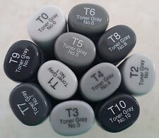 Brand New! Copic Sketch Dual Tip Markers (Toner Gray Series) FREE Shipping!