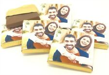 Personalised Chocolate Wedding Favours, Your own Photo - 50/100/150 Free P&P