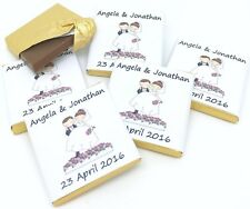 Personalised Chocolate Wedding Favours, The Original Cute Couple! 50/100/150