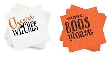 Mud Pie MH6 Halloween Party 20ct Paper Cocktail Napkins Witch Or Boo 4095011