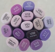 Brand New! Copic Sketch Dual Tip Markers (Violet Series) FREE Shipping!