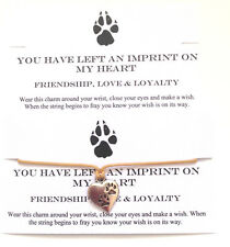 Friendship Love Loyalty Handmade Paw Wish Bracelet Wicca Unique Pagan Gift Charm