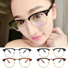 2016 Fashion Retro Half Frame Clear Lens Glasses Nerd Geek Eyewear Eyeglasses