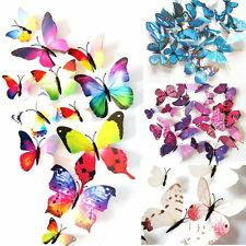 12x 3D Butterfly Art Design Decal Wall Stickers Mural Home Decor Room Decoration