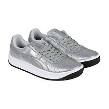 Puma Gv Special Reflective Mens Silver Patent Leather Lace Up Sneakers Shoes