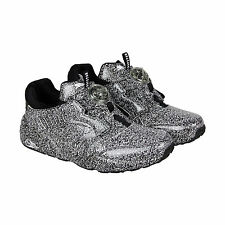 Puma Disc White Noise X Trapstar Womens Black White Suede Sneakers Shoes
