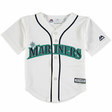 Seattle Mariners Majestic Toddler Official Cool Base Jersey - White - MLB