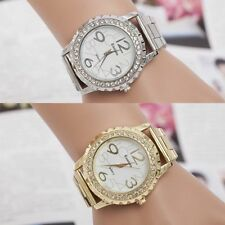 Fashion Luxury Men Women Stainless Steel Crystal Sport Quartz Analog Wrist Watch