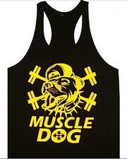 MUSCLE DOG GYM STRINGER TANK SINGLET SIZE XL - XXL BODYBUILDING WEIGHT LIFTING