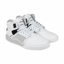 Supra Skytop III Mens Black White Suede Lace Up Sneakers Shoes