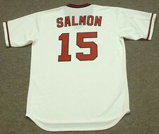 TIM SALMON California Angels Majestic Cooperstown Throwback Home Baseball Jersey