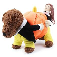 Pet Dog Cat Clothes Cute Pumpkin Costume Puppy Halloween Apparel Coat Jacket