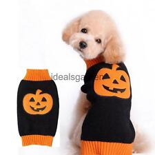 Pet Dog Cat Puppy Halloween Pumpkin Sweater Clothes Apparel Holiday Costume