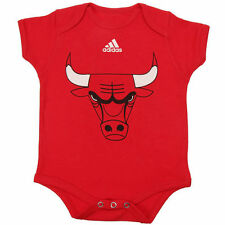 Chicago Bulls adidas Newborn Primary Logo Bodysuit - Red - NBA