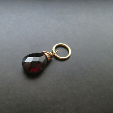 GARNET Gemstone Interchangeable Pendant Charm with Jump Ring