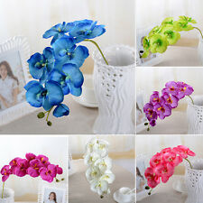 Wedding Colorful Artificial Fake Silk Flower Phalaenopsis Butterfly Orchid Hot W