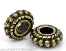 Wholesale Lots Bronze Tone Wheel Spacer Beads Findings 8x3mm