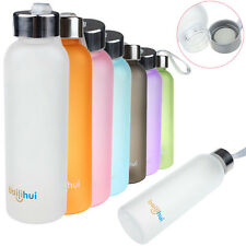 600ml Clear  Plastic Tight Fruit Juice Sport Portable Travel Bottle Water Cup
