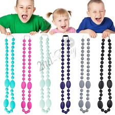 Silicone Teething Necklace Chewbead For Mum Baby Chew Teether Jewellery Pendant