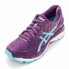 Asics Womens Lady Gel-Nimbus 18 Wide Purple Blue Running Shoes DS TJG512-3340