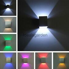 3W Square LED Wall Lamp Home Bar Porch Light Decoration 6 Emitting Colors Light