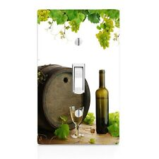 Winery Wine Glass and Bottle Wall Plate Toggle Decor Switch Plate Cover, home,